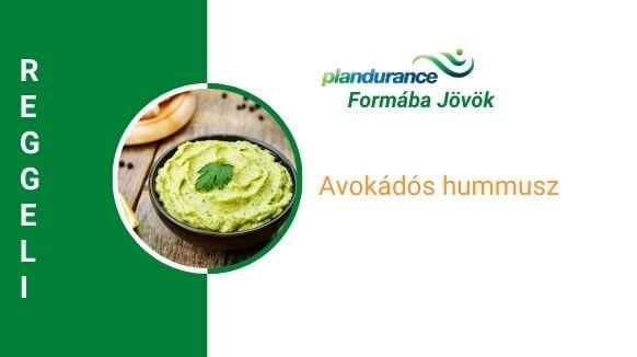 Avokádós hummusz reggeli recept