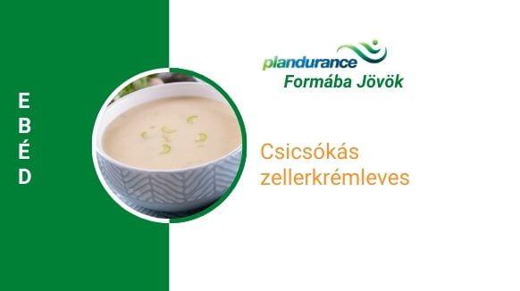 Csicsókás zellerkrémleves ebéd recept