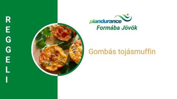 Gombás tojásmuffin reggeli recept