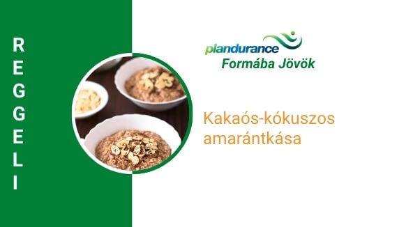 Kakaós-kókuszos amarántkása reggeli recept