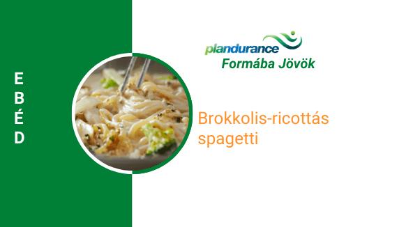 Brokkolis-ricottás spagetti Vacsora