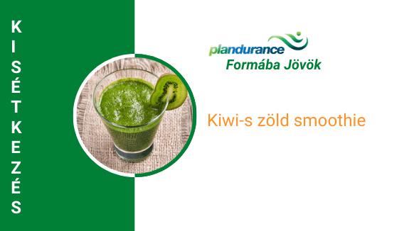 Kiwi-s zölds smoothie Kisétkezés