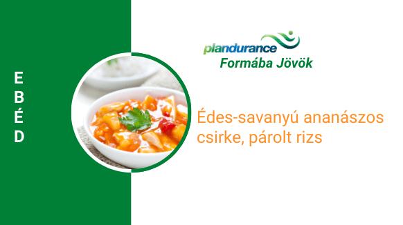 Édes-savanyú ananászos csirke, párolt rizs Ebéd