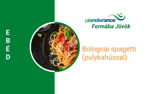 Bolognai spagetti (pulykahússal) Ebéd