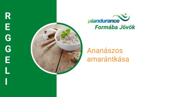 Ananászos amarántkása Reggeli