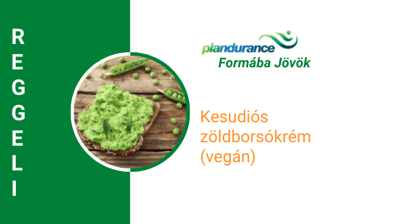 Kesudiós zöldborsókrém (vegán) Reggeli