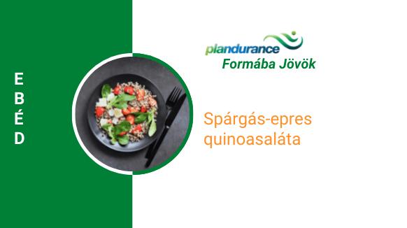 Spárgás-epres quinoasaláta Ebéd