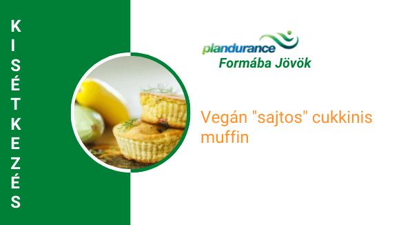 "Vegán ""sajtos"" cukkinis muffin Kisétkezés"