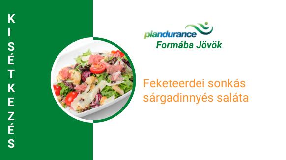 Feketeerdei sonkás sárgadinnyés saláta Kisétkezés
