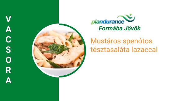 Spenótos lazacos tésztasaláta Vacsora