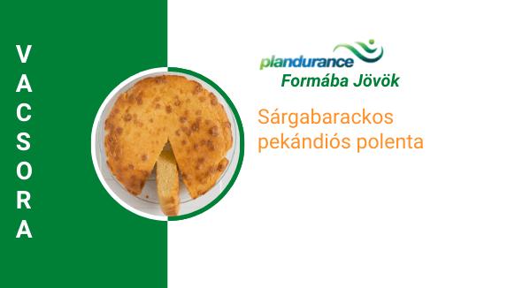 Sárgabarackos pekándiós polenta Vacsora