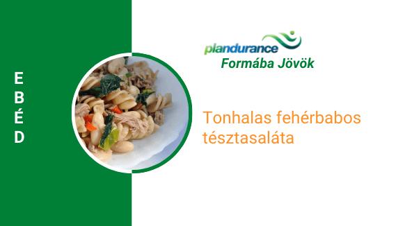 Tonhalas fehérbabos tésztasaláta Ebéd