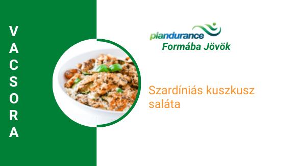 Szardíniás kuszkusz saláta Vacsora