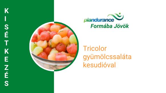 Tricolor gyümölcssaláta Kisétkezés