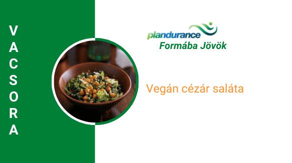 Cézár saláta vegán módon Vacsora