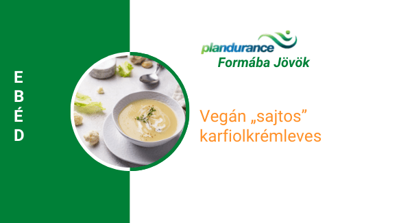 Karfiol krémleves Ebéd (Vegán)