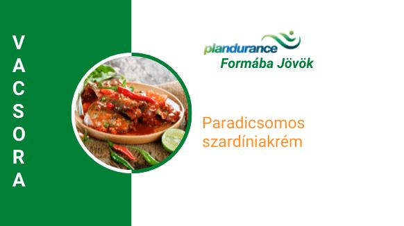 Paradicsomos szardíniakrém Vacsora