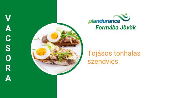 Tojásos tonhalas szendvics Vacsora